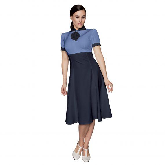 Kleid Claudia blau oder rot