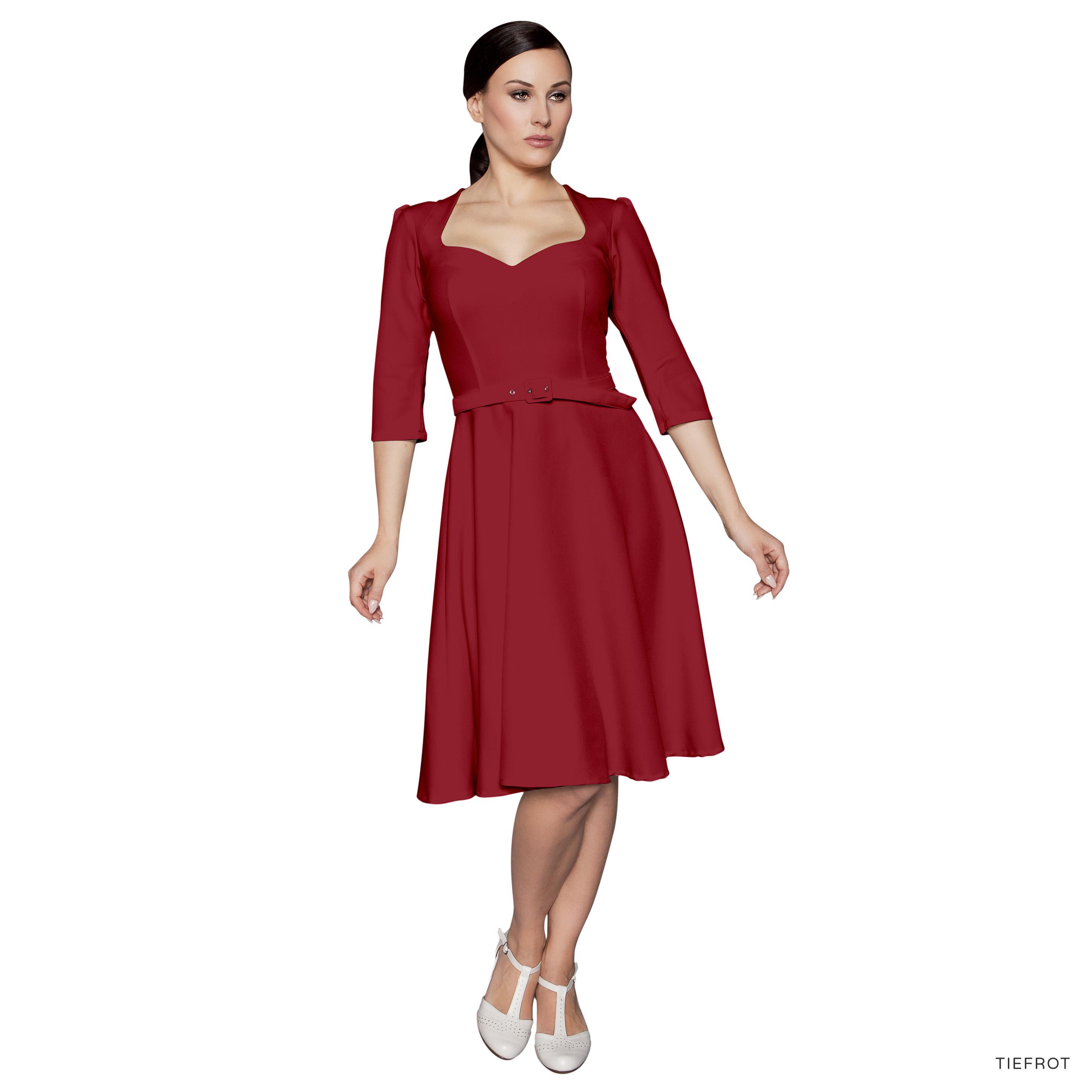 Kleid VALENTINA blau oder rot