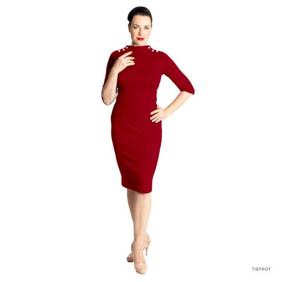 Kleid JOAN tiefrot